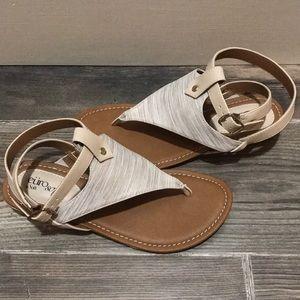 Eürosoft Tan Missy Sandals 7.5 NWOB